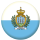 San Marino Country Flag 58mm Button Badge